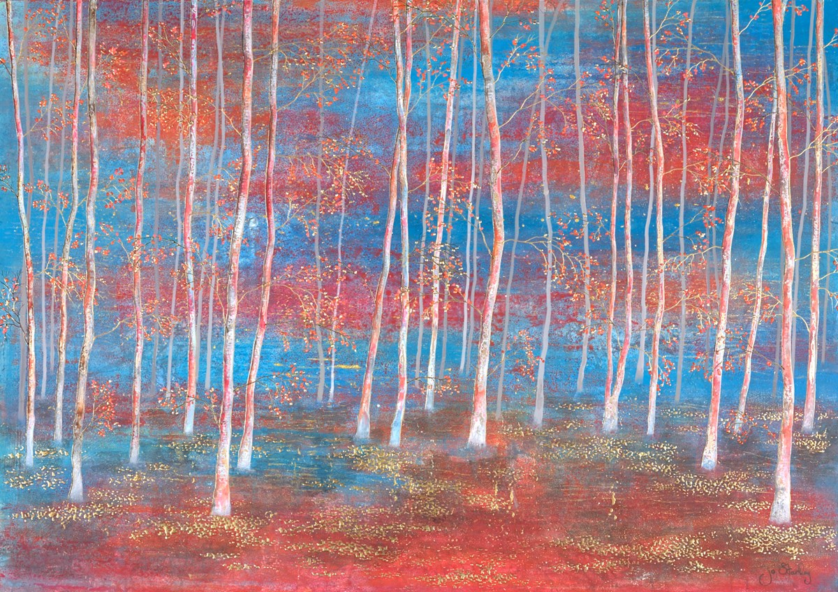 Forest Colours II by jo starkey -  sized 36x26 inches. Available from Whitewall Galleries